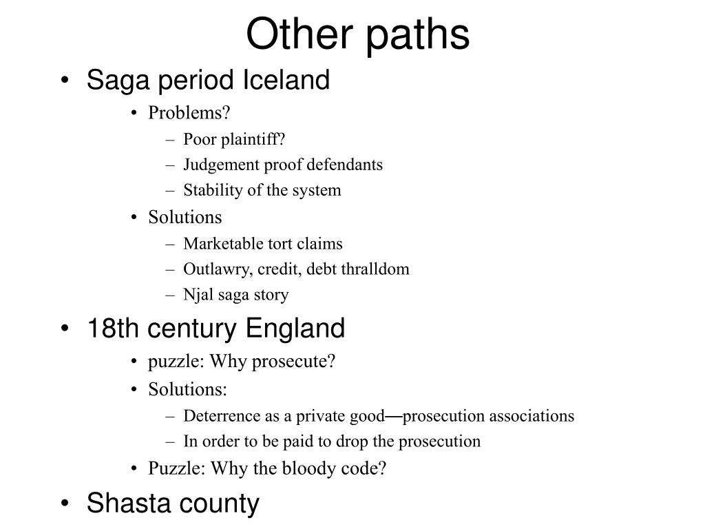 Other paths