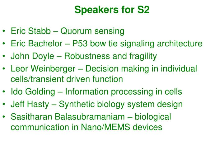 Speakers for S2