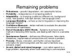 remaining problems