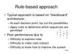 rule based approach23