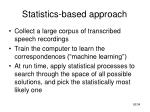 statistics based approach26