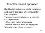 template based approach21