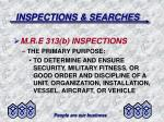 inspections searches