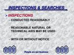 inspections searches36