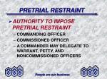 pretrial restraint11
