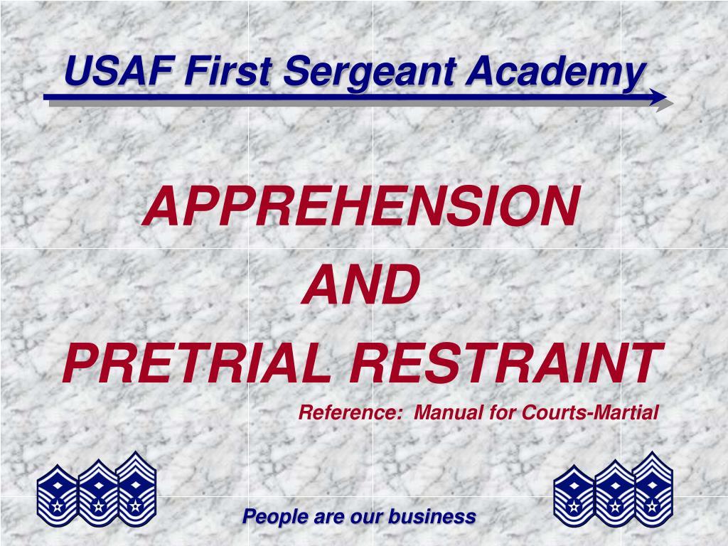 usaf first sergeant academy l.