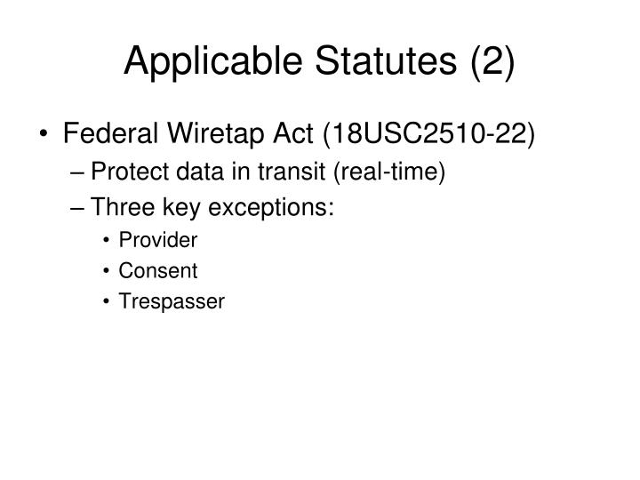 Applicable Statutes (2)