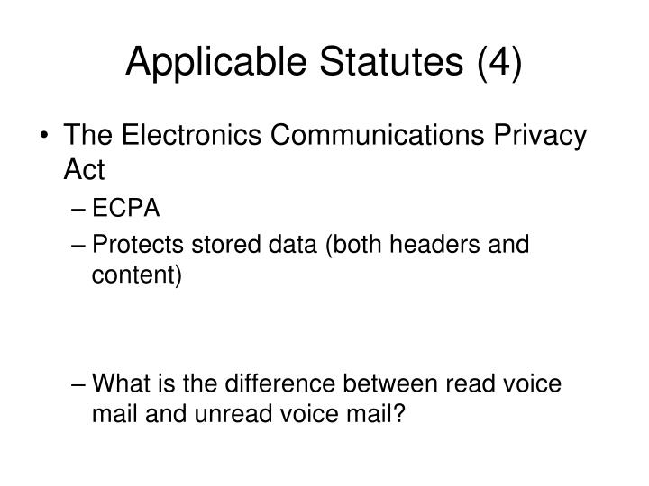 Applicable Statutes (4)