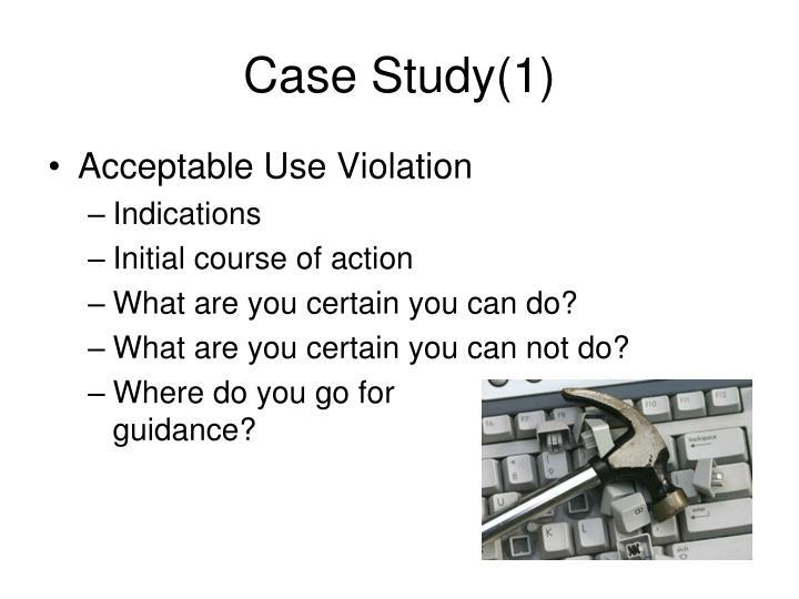 Case Study(1)