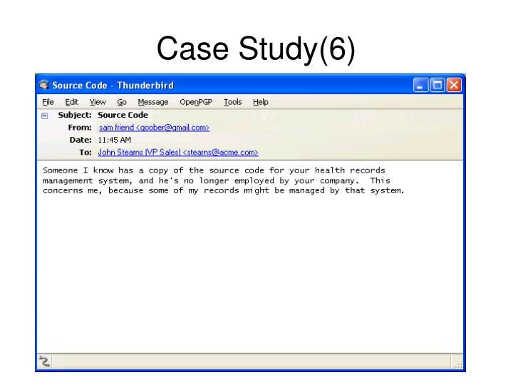 Case Study(6)