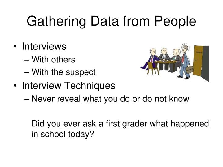 Gathering Data from People