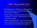 cgms reproducibility study metzger m et al diabetes care 25 1185 july 200241
