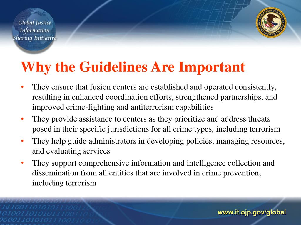 Why the Guidelines Are Important