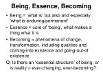 being essence becoming