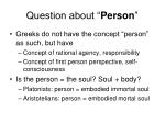 question about person