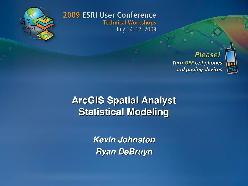 arcgis spatial analyst statistical modeling l.