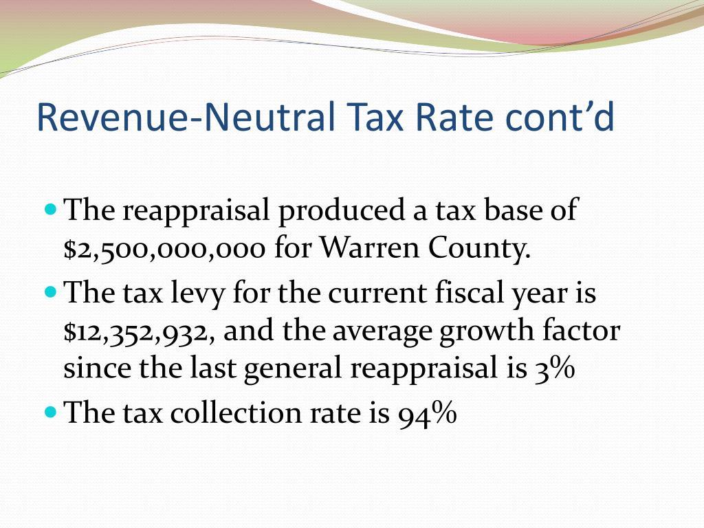 Revenue-Neutral Tax Rate cont'd