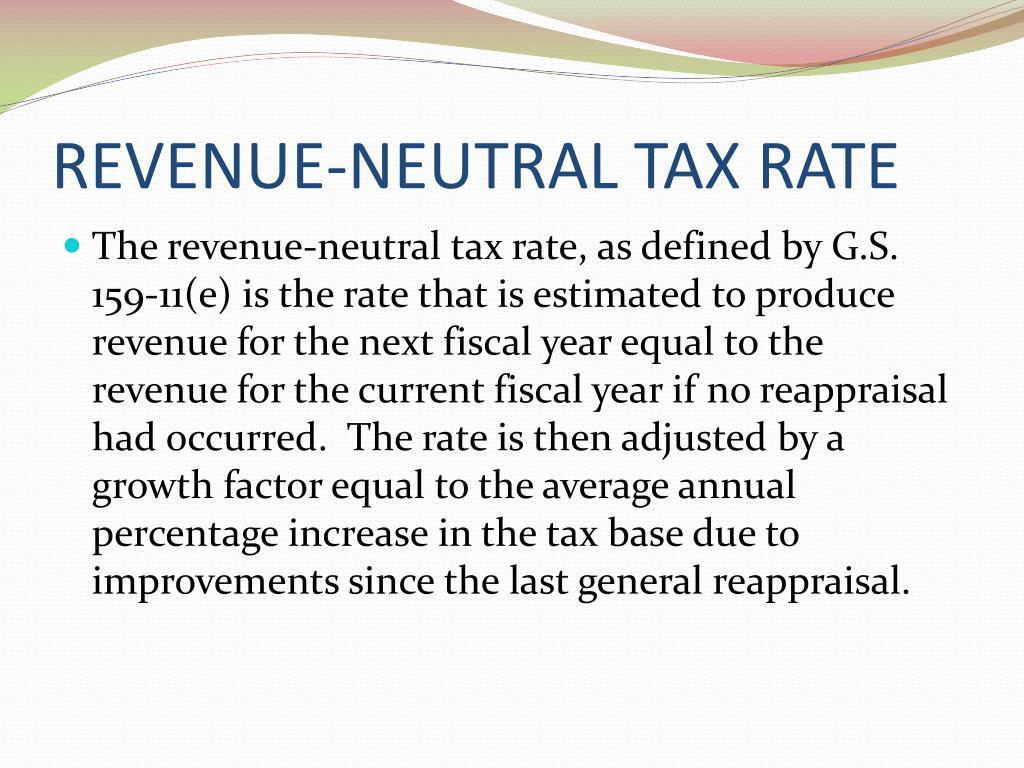 REVENUE-NEUTRAL TAX RATE