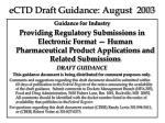 ectd draft guidance august 2003