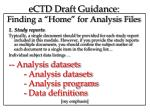 ectd draft guidance finding a home for analysis files