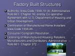 factory built structures