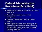 federal administrative procedures act 1946