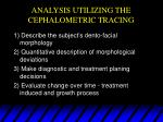 analysis utilizing the cephalometric tracing