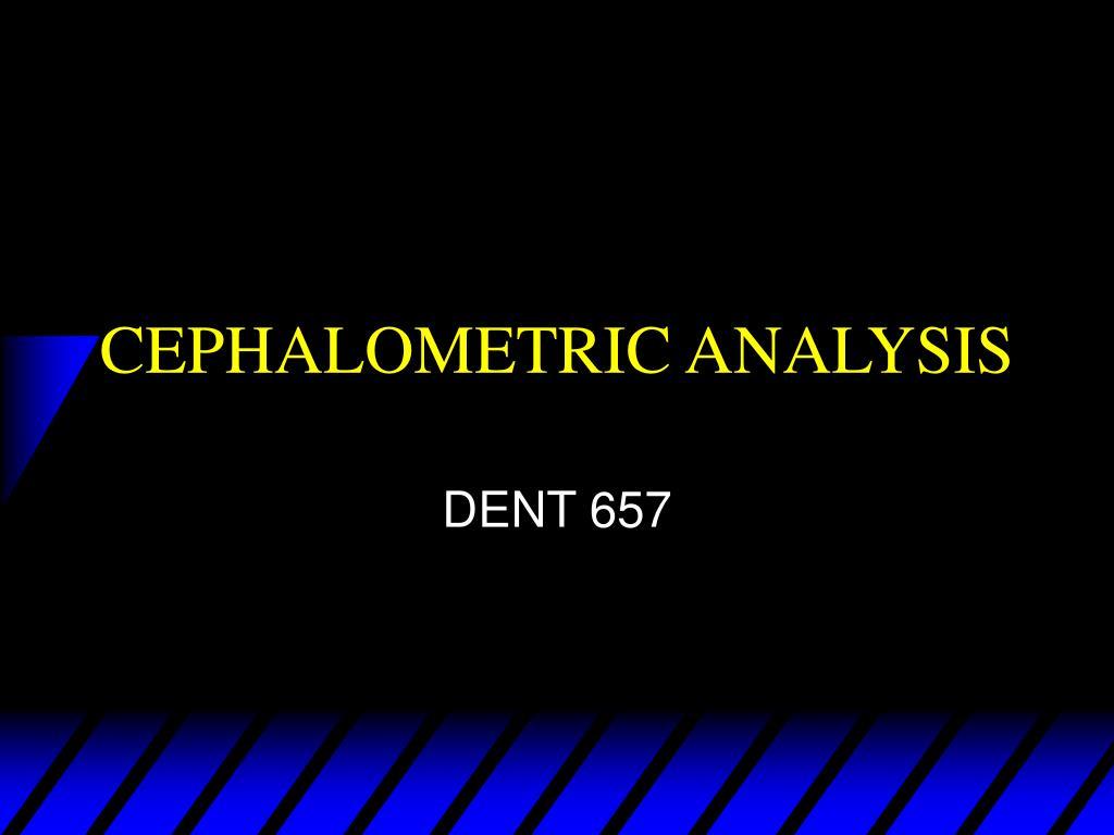cephalometric analysis l.