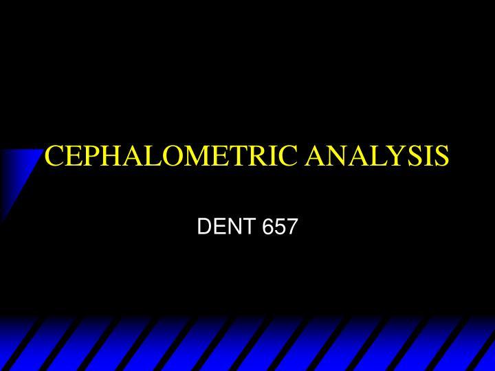 cephalometric analysis n.
