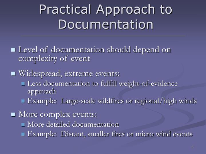 Practical Approach to Documentation