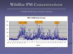 wildfire pm concentrations