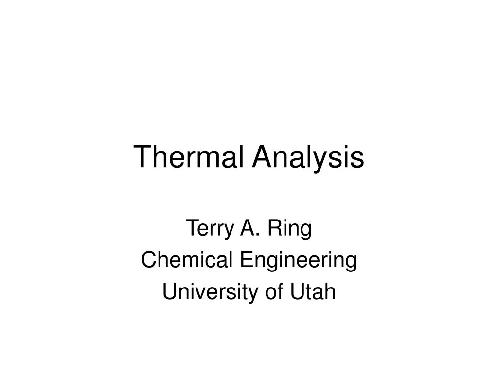 thermal analysis l.