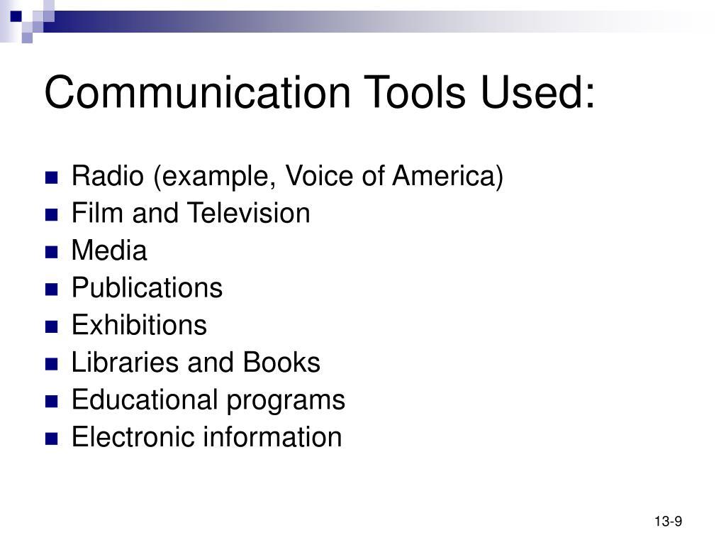 Communication Tools Used: