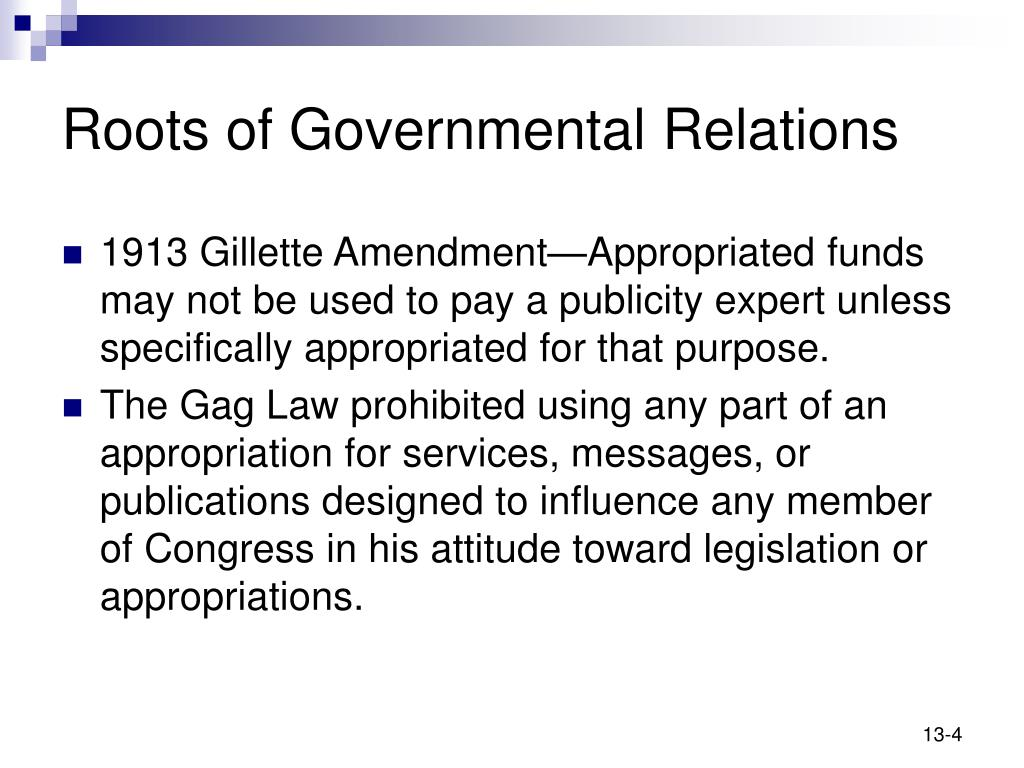 Roots of Governmental Relations