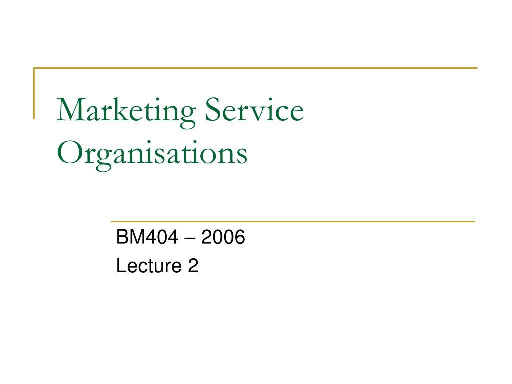 marketing service organisations l.