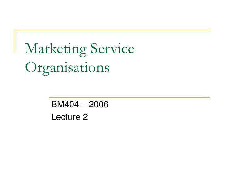 marketing service organisations n.