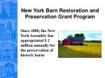 new york barn restoration and preservation grant program