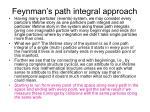 feynman s path integral approach