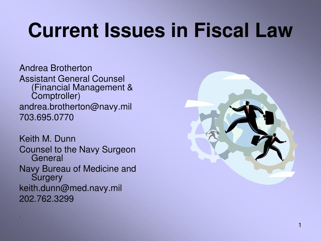 Current Issues in Fiscal Law