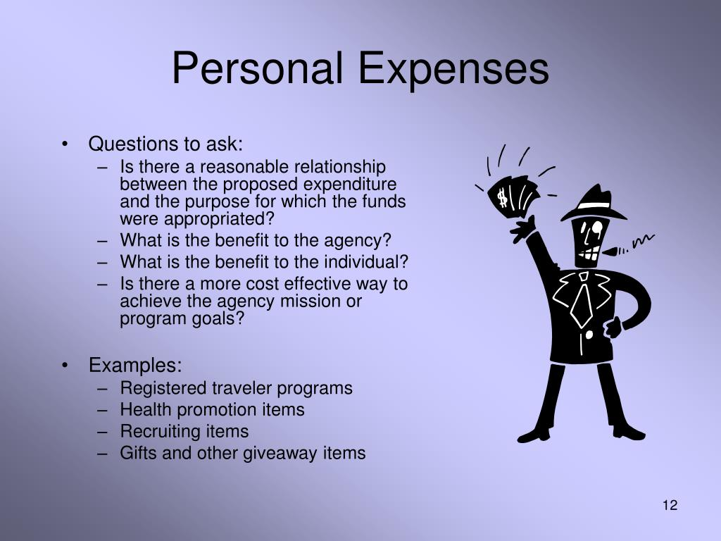 Personal Expenses