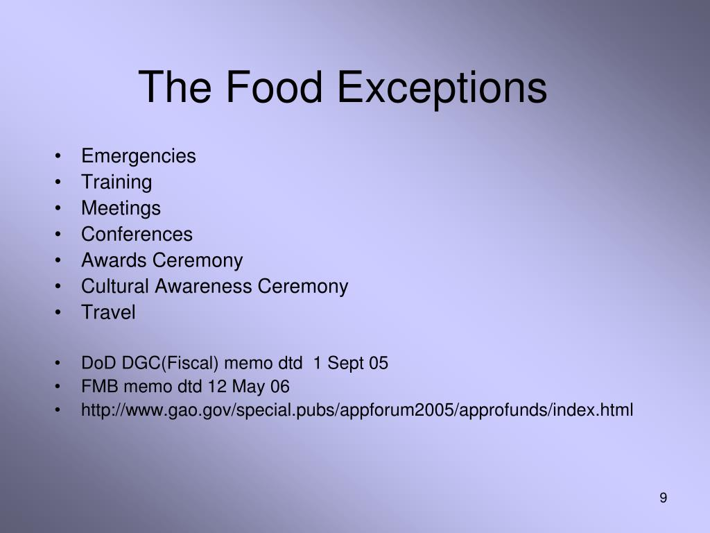 The Food Exceptions