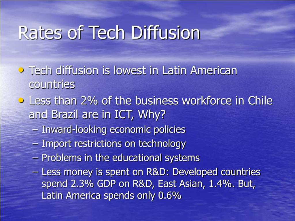 Rates of Tech Diffusion