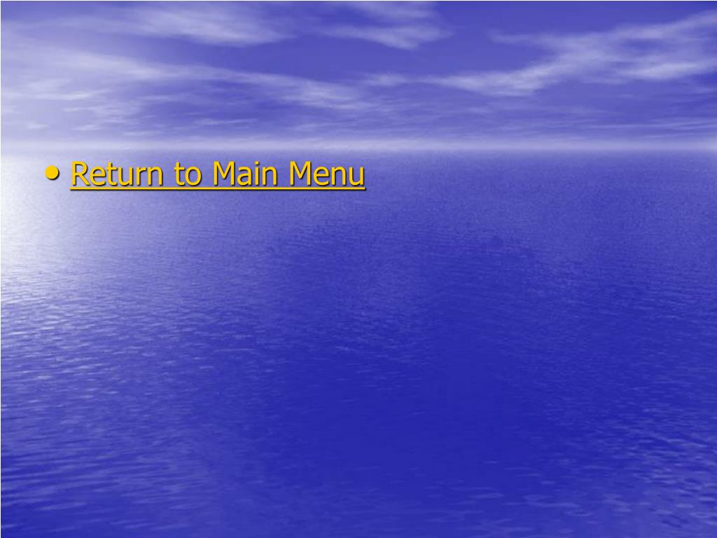 Return to Main Menu