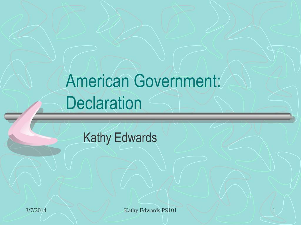american government declaration l.