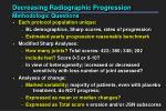 decreasing radiographic progression methodologic questions
