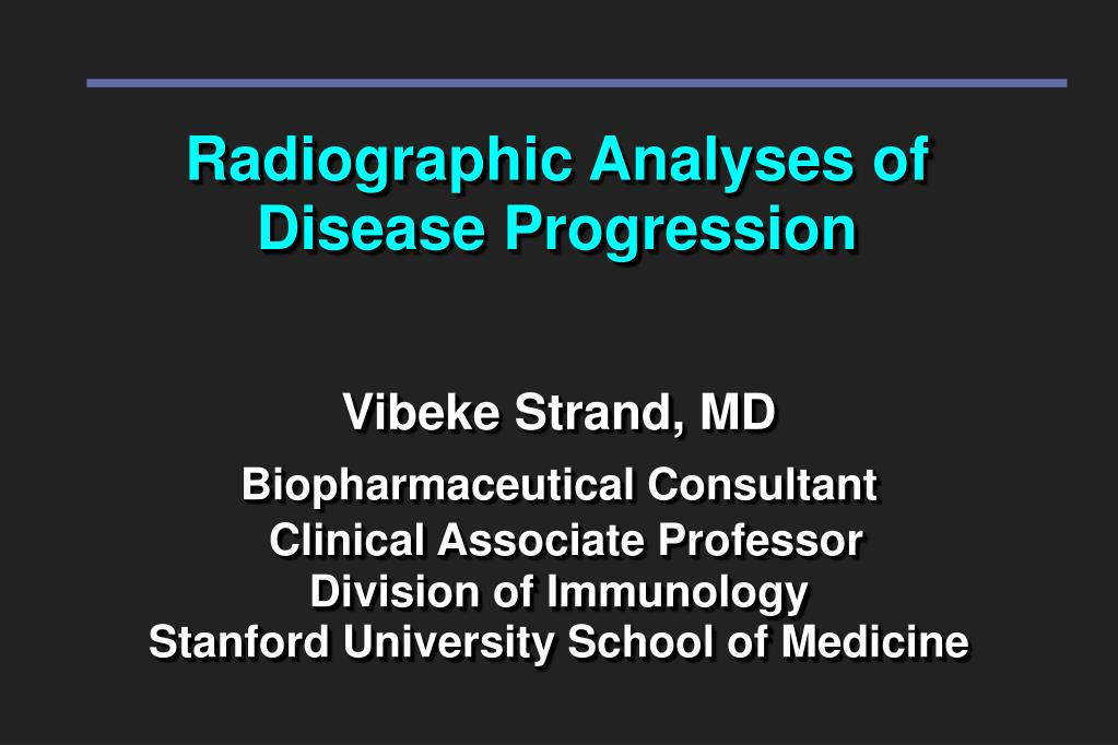 radiographic analyses of disease progression l.