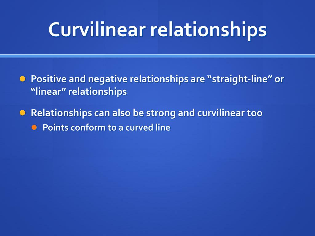 Curvilinear relationships