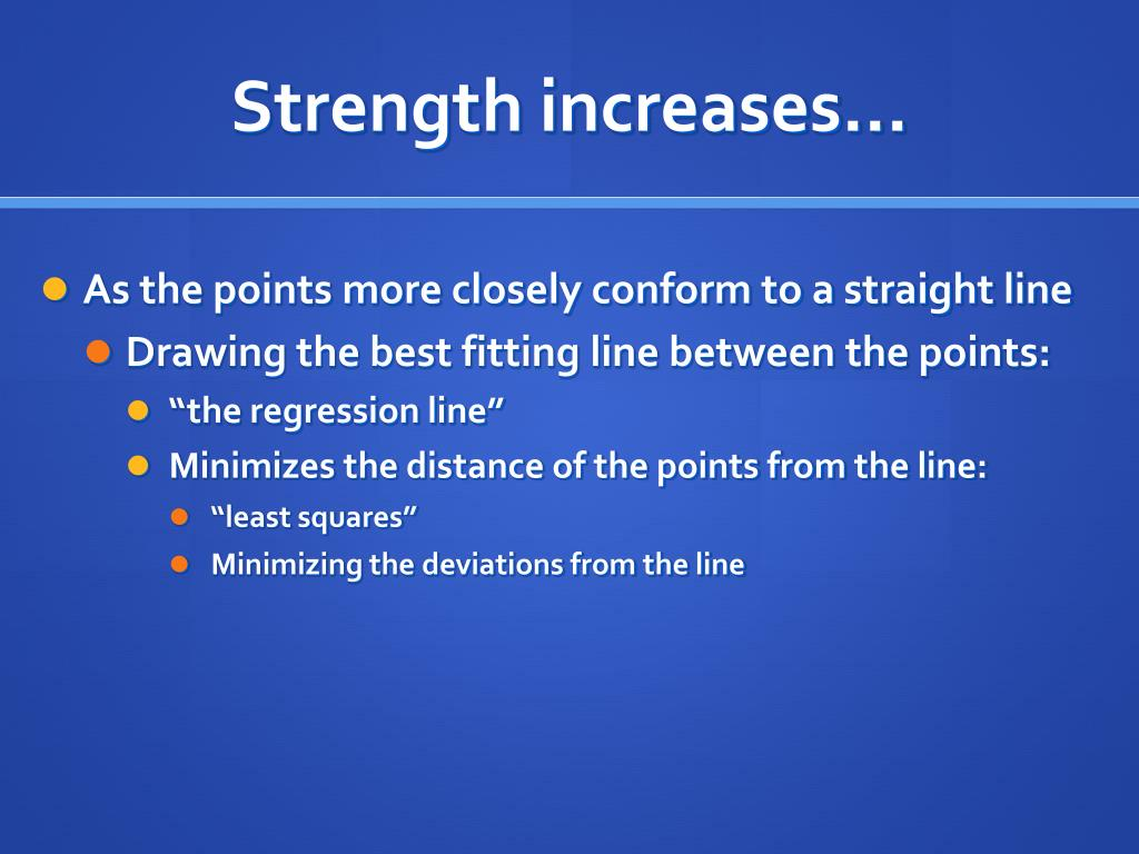 Strength increases…