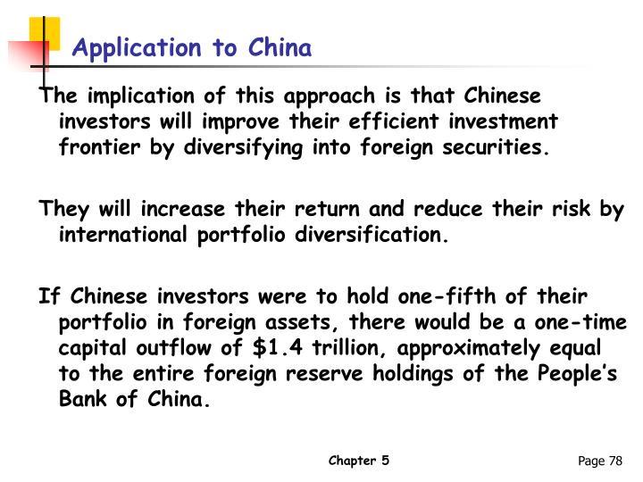 Application to China