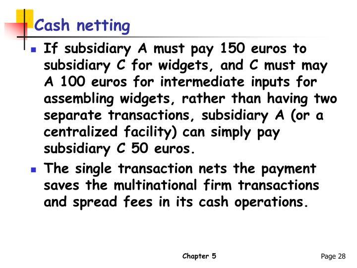 Cash netting
